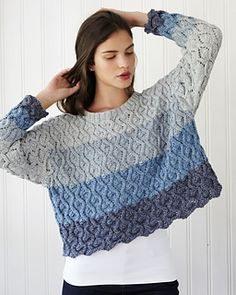 Cable and Lace Sweater pattern by Debbie Bliss