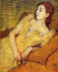 Edgar Degas. Seated Woman, 1895. Pastel. http://www.the-athenaeum.org/art/detail.php?ID=5519