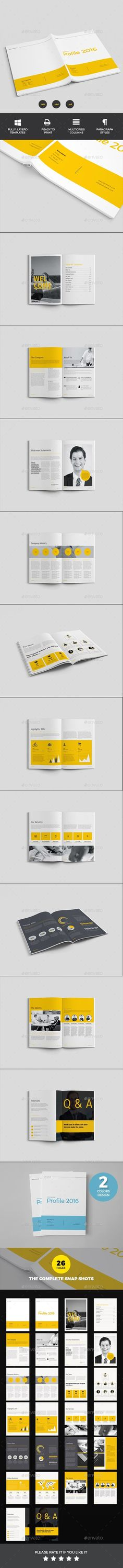 Company Profile Brochure Template InDesign INDD - 24 Pages 画册