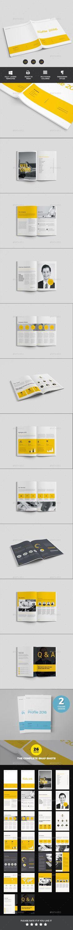 Company Profile  Company Profile Brochures And Photoshop