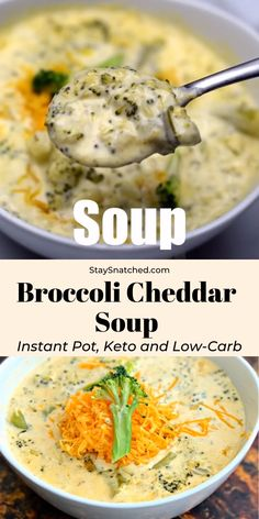 Easy Keto Low-Carb Instant Pot Panera Broccoli Cheddar Cheese Soup is the best, quick pressure cooker recipe that includes stovetop directions, too. This copycat recipe … Low Carb Recipes, Vegetarian Recipes, Cooking Recipes, Healthy Recipes, Healthy Pressure Cooker Recipes, Pressure Cooker Stew, Pressure Canning, Slow Cooker, Broccoli Soup Recipes