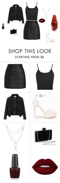 """""""Untitled #30"""" by sara-tadic-1 ❤ liked on Polyvore featuring Topshop, Zizzi, Nly Shoes, Charlotte Russe, OPI and Lime Crime"""