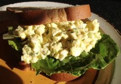 Smokin' Egg Salad Sandwiches  2 Tbsp. chopped fresh cilantro (optional) 1/4 Cup of Hellmann's Real Mayonnaise 1 Rib celery, finely chopped 1 Tbsp. finely chopped red onion 1 Tbsp. lime juice 1/4 Tsp. grated lime peel 1/8 Tsp. salt 1/4 tsp. Ground chipotle chili pepper 8 Hard-cooked eggs, chopped 8 Slices hearty whole grain bread 4 Lettuce leaves  Click here for the full recipe: http://www.q99fm.com/BreakfastClub/FDT2015.aspx