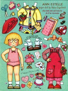 Paper Doll by Mary Engelbreit, Valentines Day with Ann Estelle