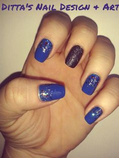 Lovely blue mani.