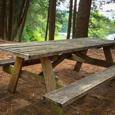 Picnic tables are easy to make and, for the cost of the wood, give you a useful outdoor table that will last for years.