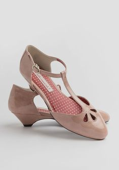 Irella T-strap -- great low heeled wedding shoe