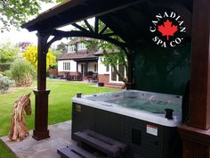 What Makes a Great Hot Tub Garden Landscape? ⦁A private and enclosed hot tub (Gazebos) ⦁Boundary walls softened by planting  ⦁Generous paved areas crisply neatly edged  ⦁Contemporary layout, ornaments and garden furniture http://www.canadianspacompany.com/great-hot-tub-garden-landscape/