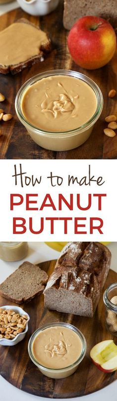 Wondering how to make peanut butter? You only need one ingredient and a food processor or a high-powered blender! You'll never want to buy store-bought again. This homemade peanut butter is so much cheaper and tastier! #glutenfree #peanutbutter #recipe #healthy