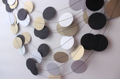 Wedding Garland Gold Silver & Black Garland by MailboxHappiness, $10.00