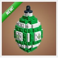 Instructions to make Christmas ornaments from Legos. Great boy craft! Includes Star Wars ones!