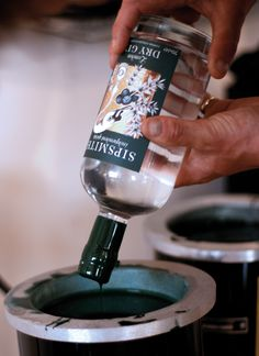 Waxing the Sipsmith Gin Bottles / Photo: Sipsmith