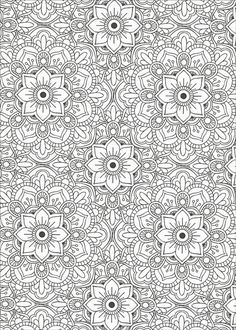Creative Haven Lotus Designs Coloring Book coloring page free
