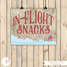 Vintage Travel Airplanes Birthday Party Sign, In-Flight Snacks Sign, Around the World Party Theme Decor, Old Maps Baby Shower Decor Digital by SquishyDesignsbyMe on Etsy