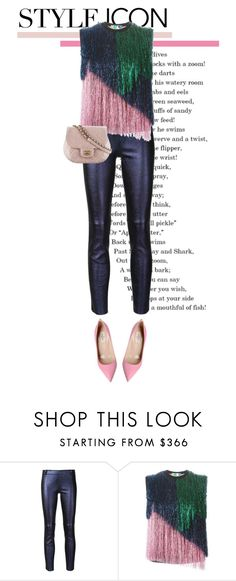 """""""Holiday Style: Leather Pants"""" by shica-du on Polyvore featuring STOULS, MSGM and Valentino"""