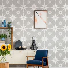 Large Wall Stencil, Stencil Painting On Walls, Stencil Decor, Wall Stencil Patterns, Large Stencils, Stencil Designs, Tile Stencils, Furniture Stencil, Painting Tiles