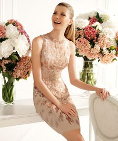 Pronovias presents the Cabriolet cocktail dress from the 2013 Short Dress Collection. | Pronovias