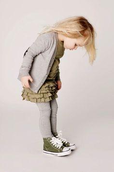 #girl's #grey and #olive cute dress idea for fall layering  Kids Fashion closefashion.com/...