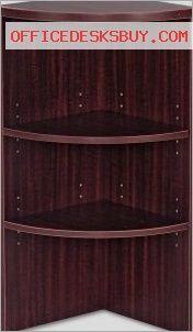 Alera VA621515MY Vncia Series Upper End Cap Bookcase - Mahogany - http://officedesksbuy.com/alera-va621515my-vncia-series-upper-end-cap-bookcase-mahogany.html