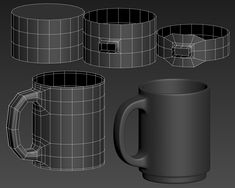 Decided to take a stab at the shape as well, looked fun! Modeling Techniques, Modeling Tips, 3d Design, Game Design, 3d Things, Polygon Modeling, 3ds Max Tutorials, Hard Surface Modeling, Blender Tutorial