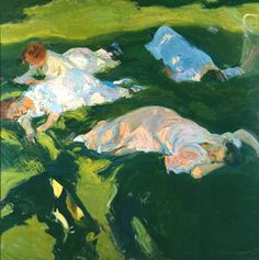 Joaquin Sorolla y Bastida, La siesta (1911). A friend suggested to check this painter.