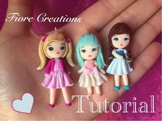 Fimo Tutorial by Fiore Creations Polymer Clay People, Fimo Polymer Clay, Polymer Clay Figures, Polymer Clay Miniatures, Polymer Clay Projects, Clay Crafts, Clay Fairies, Cute Clay, Tiny Dolls