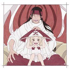 Naruto Hashirama Senju and his grandkid Tsunade Senju - Naruto Uzumaki, Anime Naruto, Anime Pokemon, Naruto Drawings, Naruto Fan Art, Naruto Sasuke Sakura, Naruto Comic, Sarada Uchiha, Naruto Cute