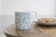 Geo Mugs designed by Ellie Hyde for the Graduate Collection