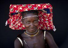 Africa |  Portrait of a Mucubal woman. Angola | © Eric Lafforgue