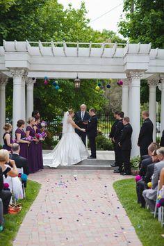 Wedding Ceremony, petals ordered by www.petalgarden.com