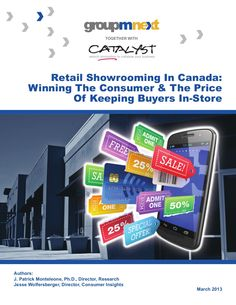 Retail Showrooming in Canada, posted by Scott Valentine via Slideshare
