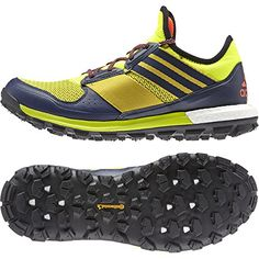 Adidas Outdoor Response Boost Trail Running Shoe - Men's Solar Yellow/Black/Solar Red, 12.0 >>> See this great product.