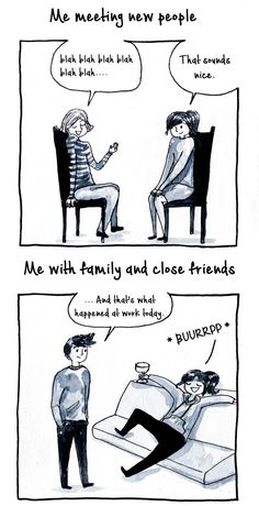 10+ Introvert Comics By Debbie That Only People With Social Anxiety Will Understand