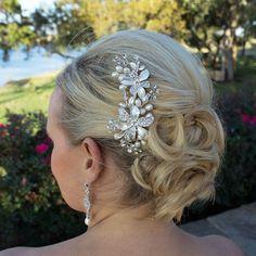 Freshwater pearl bridal hair accessories comb, wedding hair comb, Swarovski crystal rhinestone hair comb hair comb wedding headpieces