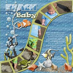 scrapbook page layouts - beach | Found on funkyplaygrounddesigns.com