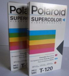 Lot of 2 Polaroid Supercolor Blank Videocassette T-120 VHS Tapes Unopened in Consumer Electronics, TV, Video & Home Audio, TV, Video & Audio Accessories | eBay