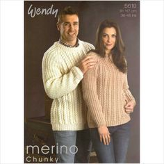 Knitting pattern wendy 5619 his and her sweater 5015832456197 on eBid United Kingdom
