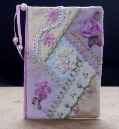 An embroidered card, very pretty.
