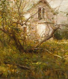 "RICHARD SCHMIDMinnesota Farm House18"" x 16""Oil on Linen"