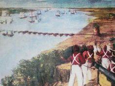 En 1845, siendo el gobernador de Buenos Aires Juan Manuel de Rosas encargado de las Relaciones Exteriores de la Confederación Argentina, tuvo lugar el combate conocido como la Vuelta de Obligado donde las fuerzas anglofrancesas intentaban obtener la libre navegación del río Paraná para poder comerciar tanto con Paraguay como con las provincias del litoral y auxiliar a Corrientes.