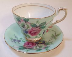 Vintage Paragon HM Queen Mary Tea Cup & Saucer