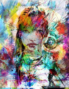"""Saatchi Art Artist yossi kotler; Painting, """"mixture of souls"""" #art"""