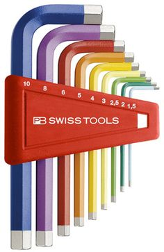 rainbow allen wrench set. maybe this would make assembling ikea furniture a bit more fun!