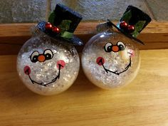 Details about 7 primitive country snowman wood signs for Clear ornament snowman craft