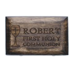 A great gift for boys! Pair with a rosary inside, or even a patron saint medal.