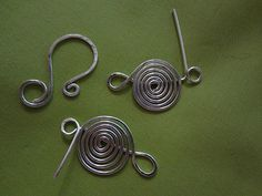 sunclasp12- use for top of friendship bracelet- make loops large enough for leather cord -to knot or loop and wire wrap or lark knot