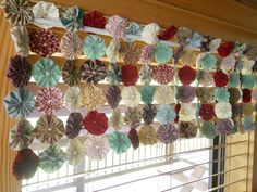 Hey, I found this really awesome Etsy listing at http://www.etsy.com/listing/152389174/curtain-window-valance-yoyo-table-runner