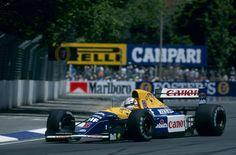 Nigel Mansell (GBR) (Canon Williams Renault), Williams FW14B - Renault RS3C/RS4 3.5 V10 (RET)  1992 Australian Grand Prix, Adelaide Street Circuit