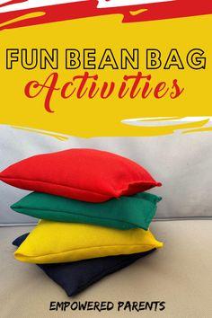 Bean Bag Activities, Preschool Movement Activities, Bean Bag Games, Physical Activities For Kids, Childcare Activities, Motor Skills Activities, Gross Motor Skills, Toddler Activities, Preschool Activities