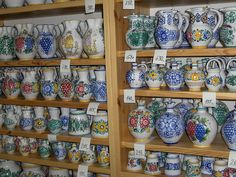 Malojica pottery in Modra, Slovakia Bratislava, Heart Of Europe, European Countries, Czech Republic, Ceramic Pottery, Porcelain, My Favorite Things, Crystals, Check